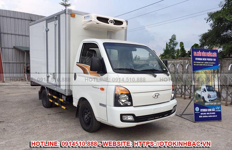 Hyundai H150 thùng đông lạnh - New Porter 150 thùng mui bạt 1.5 tấn - Kinh Bắc Auto