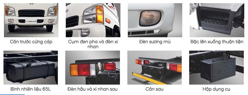 Ngoại thất xe tải Hyundai N250 - Xe tải 2.5 tấn Hyundai - Kinh Bắc Auto